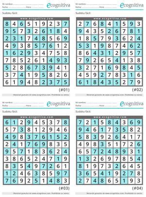 sudoku facil con soluciones