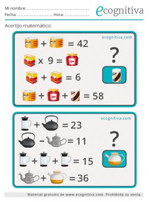 acertijos matematicos para mayores