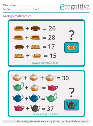 enigmas matematicos faciles