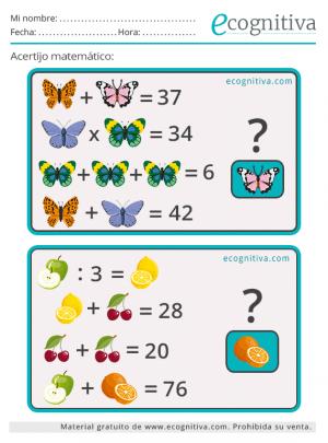 estimulación cognitiva enigmas matematicos