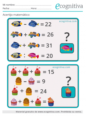 lógica matemática acertijos