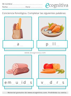 conciencia fonologica comida