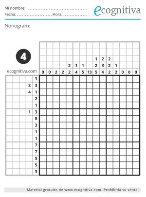 lógica nonogram octubre 21